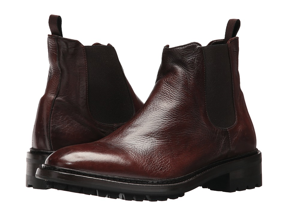 Frye Greyson Chelsea (Cognac Deer Skin Leather) Men