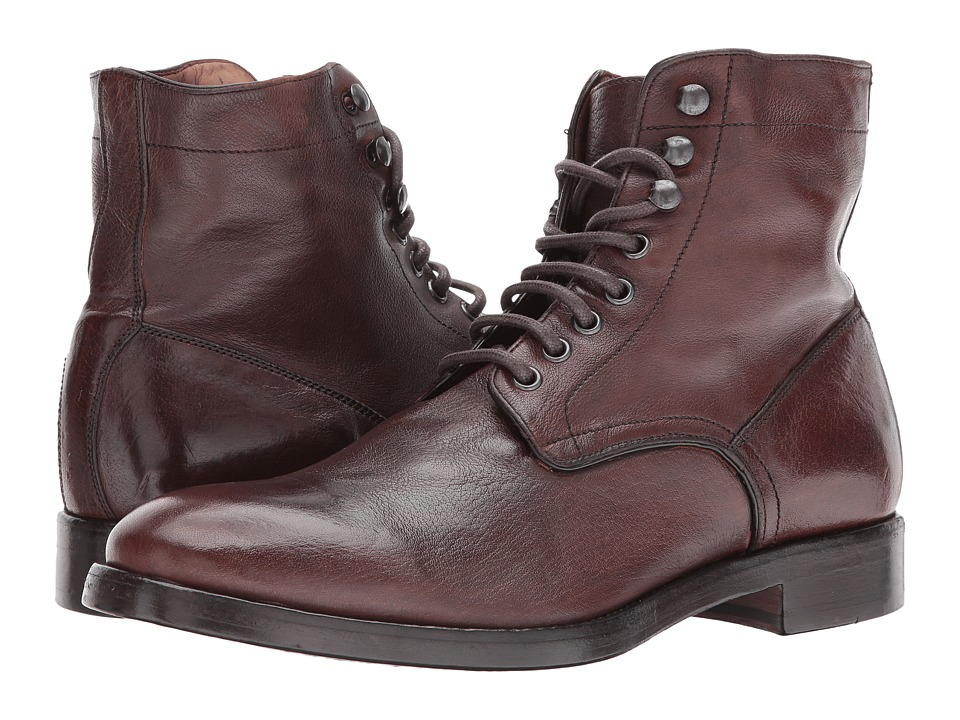 Frye Chase Lace-Up (Redwood Buffalo Smooth Full Grain) Men