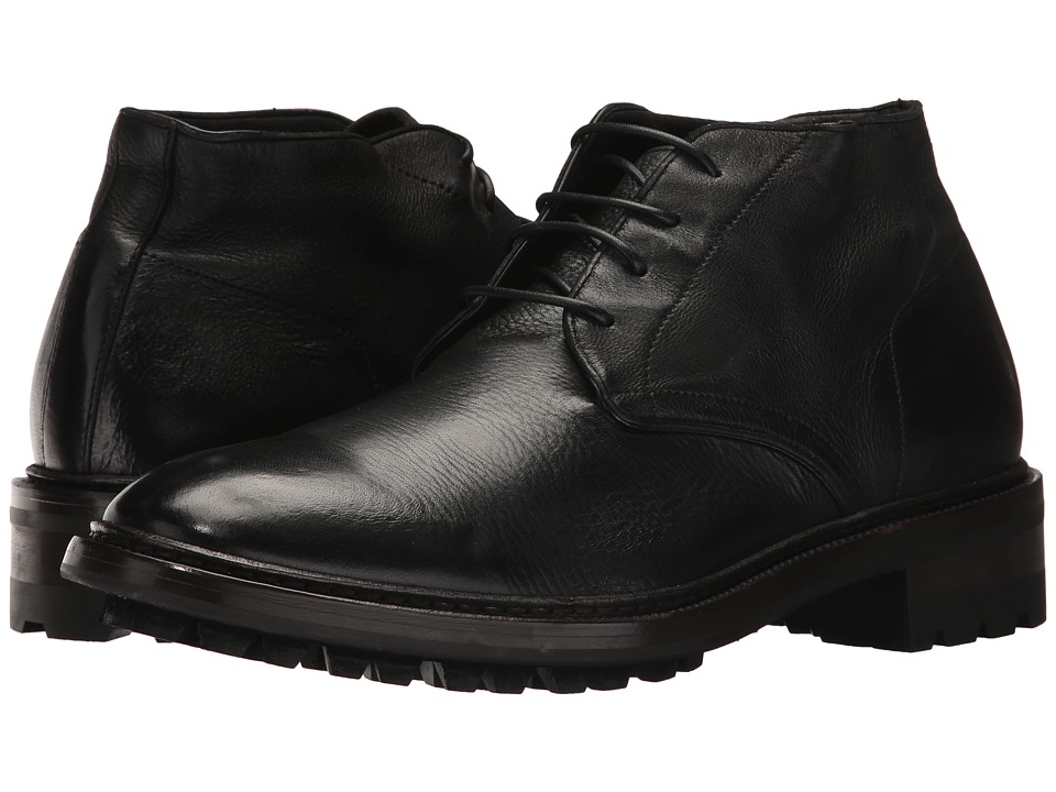 Frye Greyson Chukka (Black Deer Skin Leather) Men