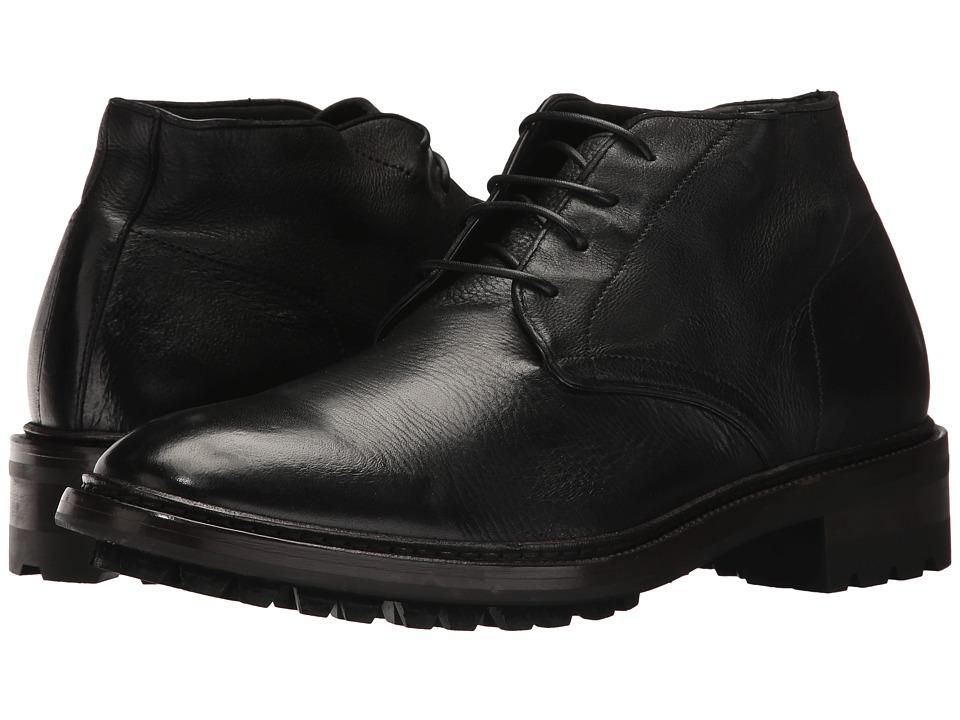 Frye Greyson Chukka (Black Deer Skin Leather) Men