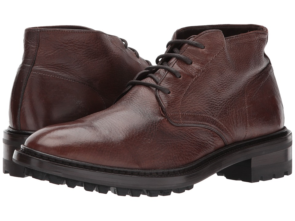 Frye Greyson Chukka (Cognac Deer Skin Leather) Men