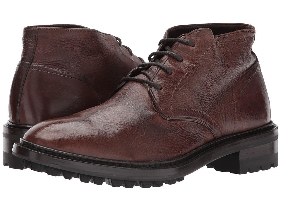 Frye Greyson Chukka (Cognac Deer Skin Leather) Men