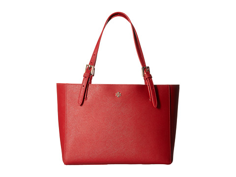 Tory Burch York Small Buckle Tote - Kir Royal