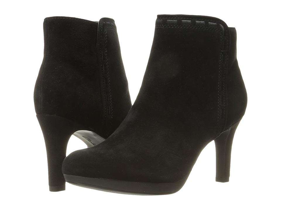 Clarks - Adriel Sadie (Black Suede) Womens Pull-on Boots