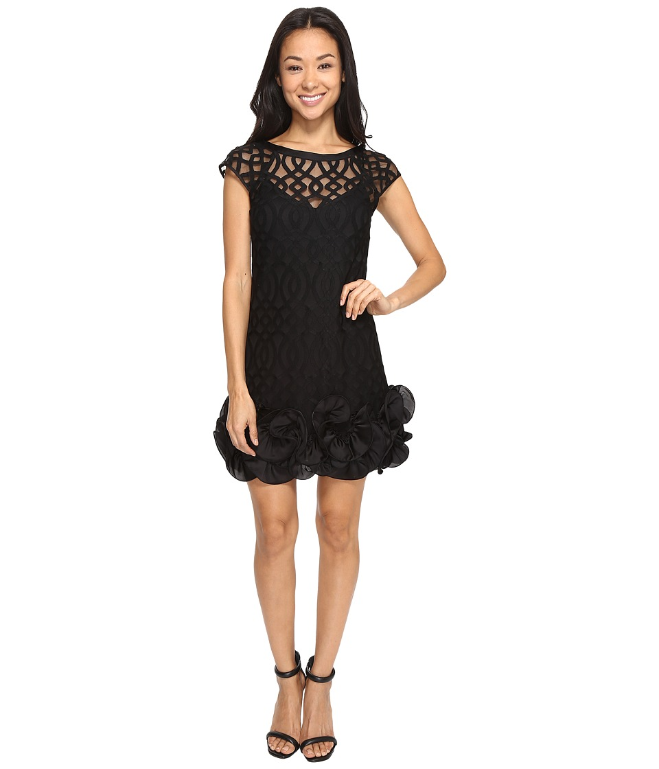 Jessica Simpson Ruffle Bottom Dress (Black) Women