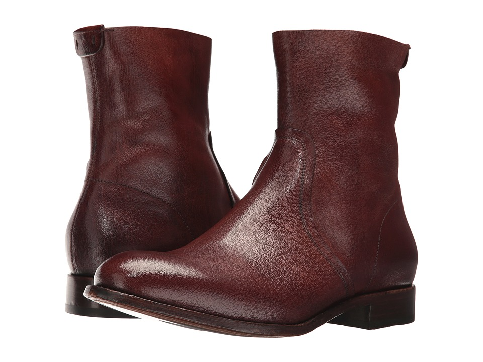 Frye Harrison Inside Zip (Redwood Buffalo Smooth Full Grain) Men