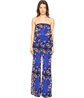 FUZZI - Strapless Flower Jumpsuit