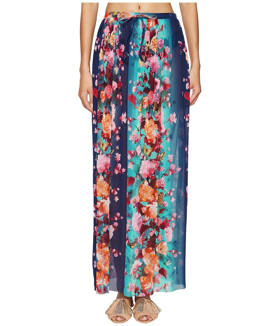 FUZZI - Single Layer Flower Print Skirt