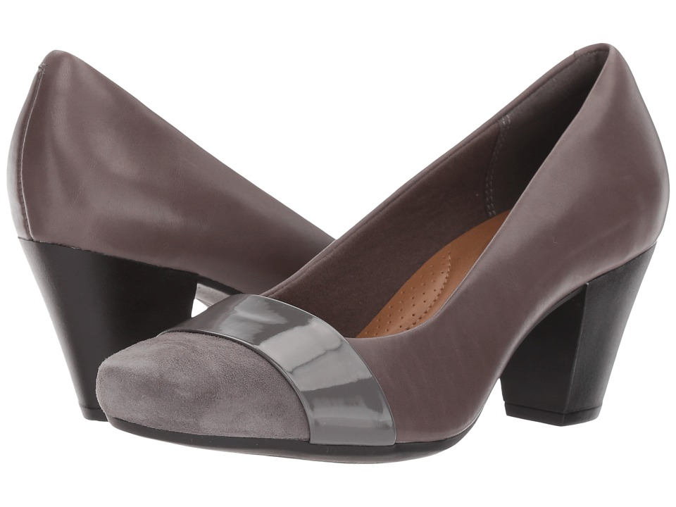 Clarks - Garnit Lucia (Grey Leather) High Heels