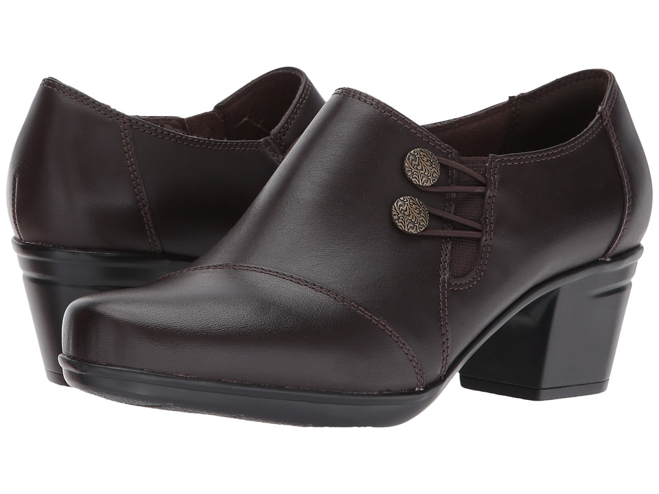 Clarks Emslie Warren (Dark Brown) Slip-On Shoes