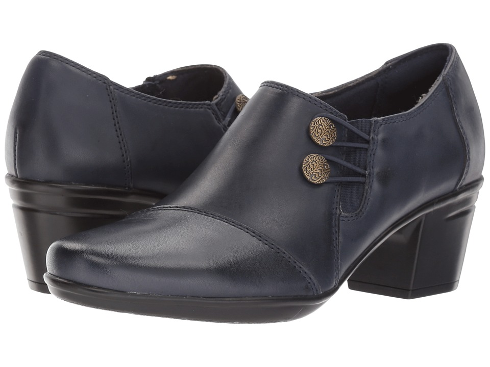 Clarks Emslie Warren (Navy Leather) Slip-On Shoes