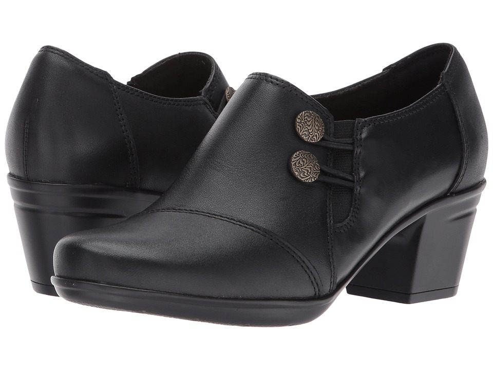 Clarks Emslie Warren (Black Leather) Slip-On Shoes