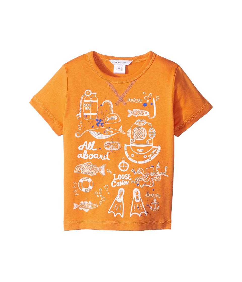 Little Marc Jacobs - Sea Animation Or Boat Print Short Sleeve Tee Shirt