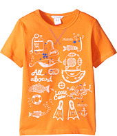 Little Marc Jacobs - Sea Animation Or Boat Print Short Sleeve Tee Shirt (Little Kids/Big Kids)