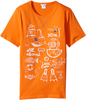 Little Marc Jacobs - Sea Animation Or Boat Print Short Sleeve Tee Shirt (Big Kids)