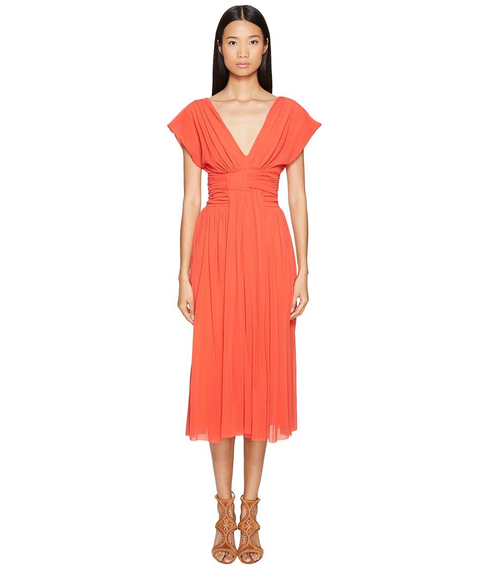 FUZZI Solid Cocktail Dress (Arancione) Women
