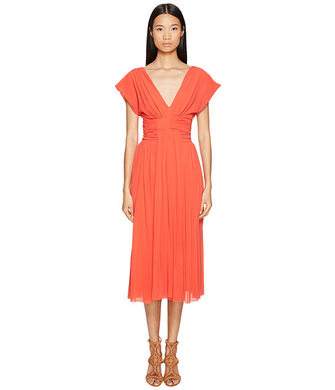 FUZZI Solid Cocktail Dress