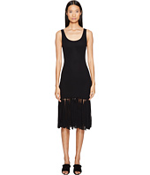 FUZZI - Solid Tank Dress with Fringe Bottom