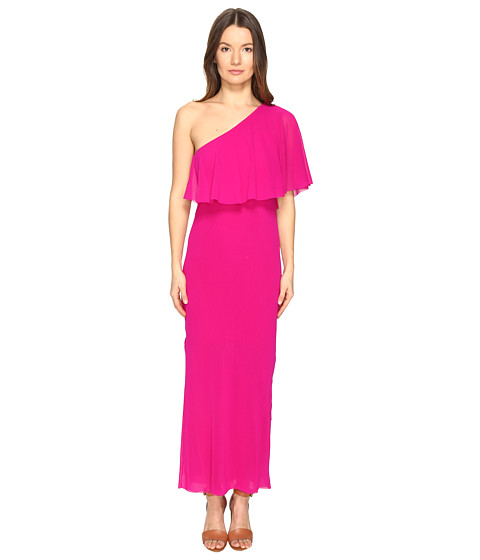FUZZI Solid Tulle One Shoulder Cover-Up