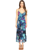 FUZZI - Tropical Flower Print Spaghetti Straps Cami Dress