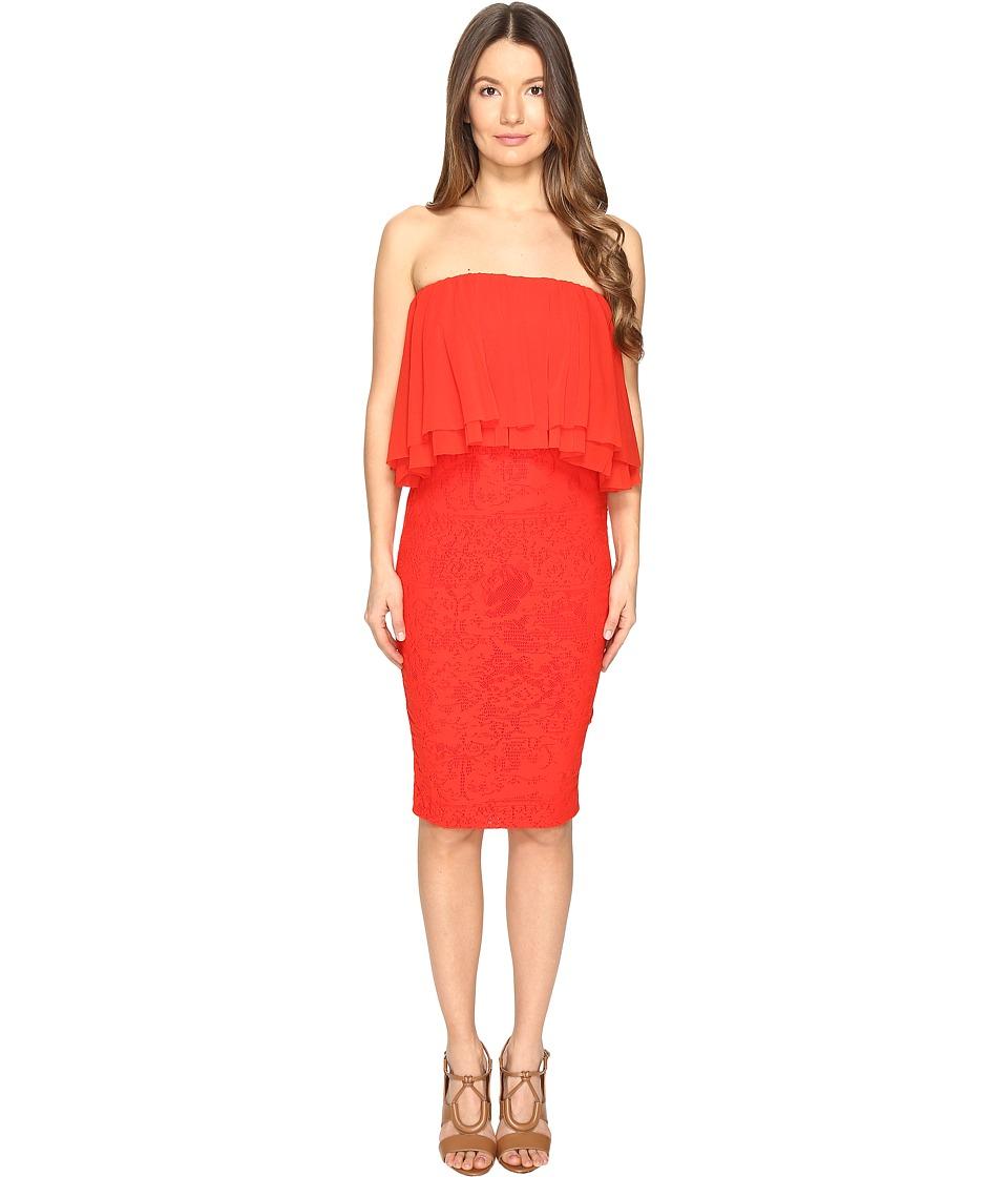 FUZZI - Strapeless Dress with Ruffle Detail Top