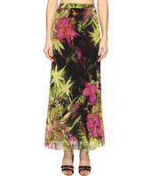 FUZZI - Tropical Flower Print Long Fitted Skirt