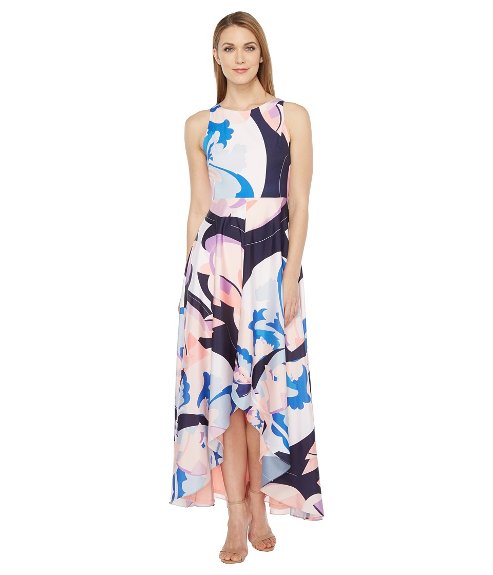 rsvp Panna High-Low Maxi Dress with Back Cut Out (Blush Multi) Women
