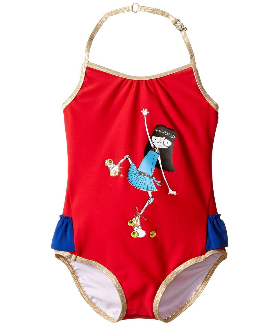 Little Marc Jacobs Miss Marc One-Piece Swimsuit (Toddler)...