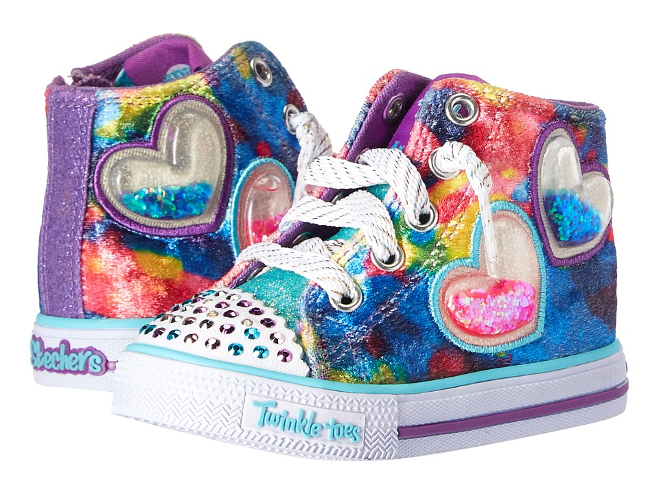 SKECHERS KIDS Twinkle Toes: Shuffles 10836N Lights (Toddler/Little Kid) (Multi) Girl's Shoes