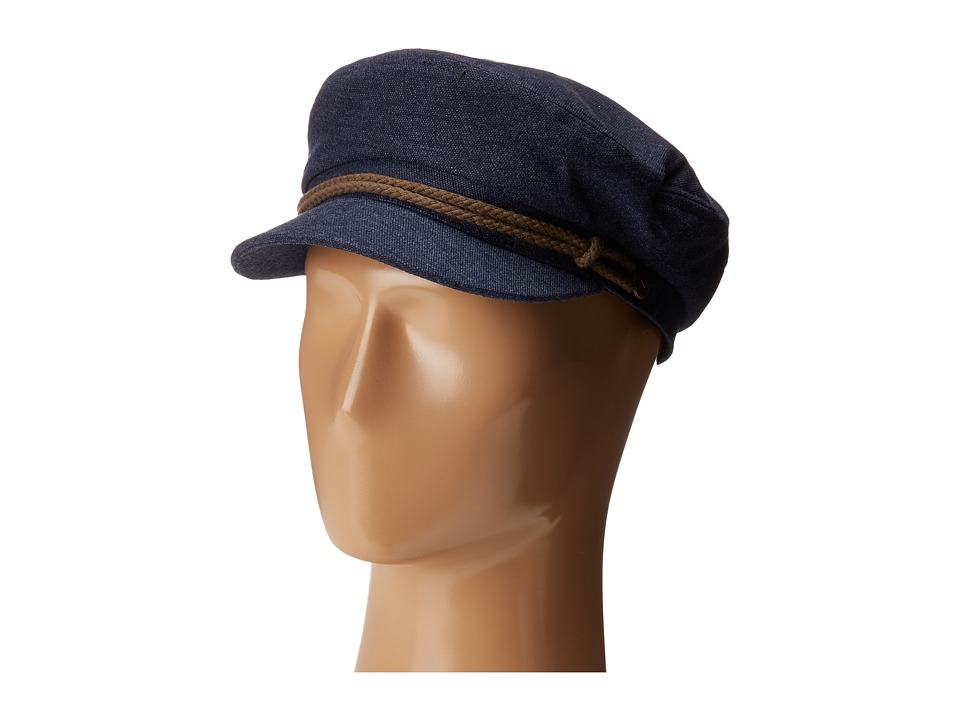 1940s Style Mens Hats Brixton - Fiddler NavyBrown Traditional Hats $37.99 AT vintagedancer.com