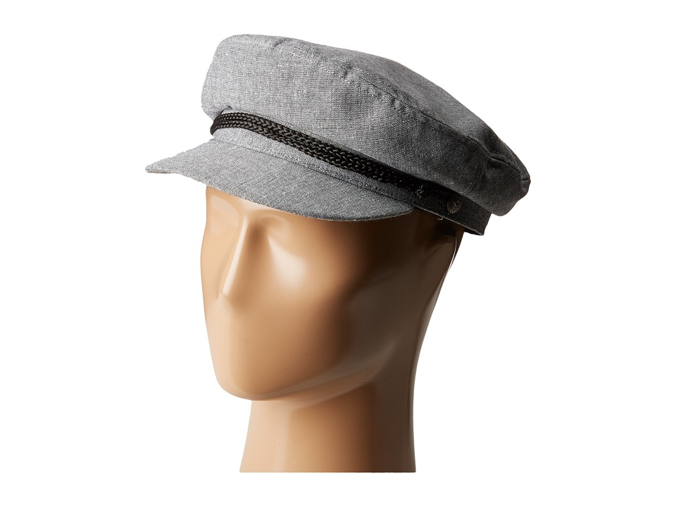 1940s Style Mens Hats Brixton - Fiddler Grey Chambray Traditional Hats $29.99 AT vintagedancer.com