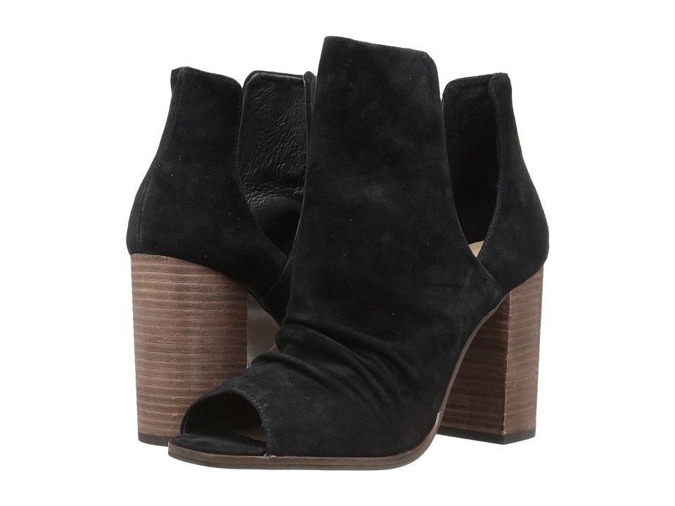 Kristin Cavallari - Lash Peep Toe Bootie (Black Kid Suede) Womens Shoes