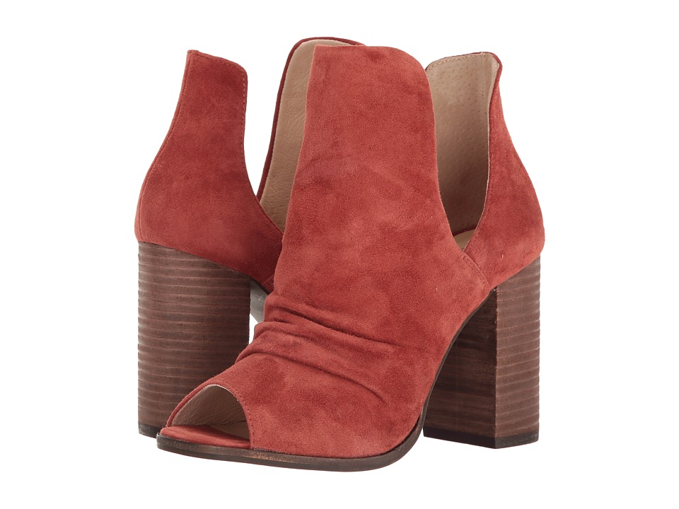 Kristin Cavallari Lash Peep Toe Bootie (Brandy Kid Suede) Women's Shoes