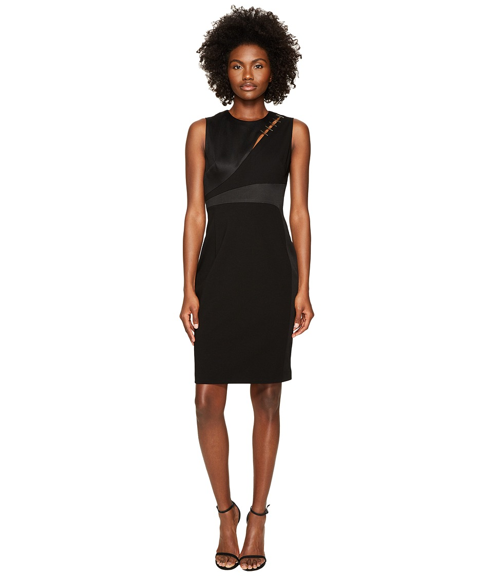 Versace Collection Sleeveless Jersey Dress (Nero) Women