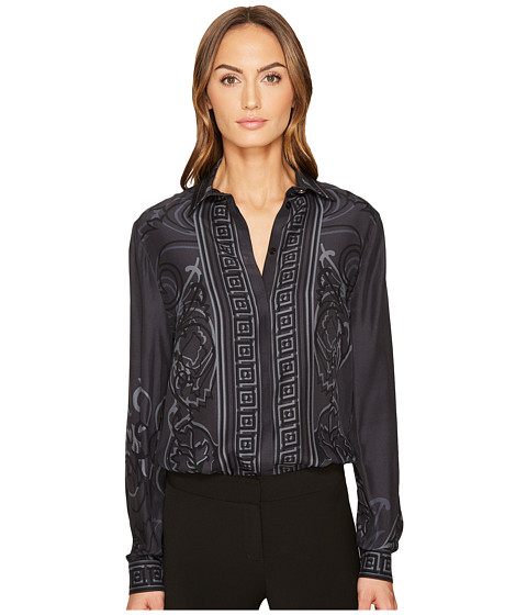 Versace Collection Printed Long Sleeve Button Up