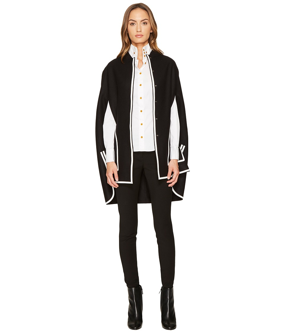 Versace Collection - Contrast Overcoat Cape