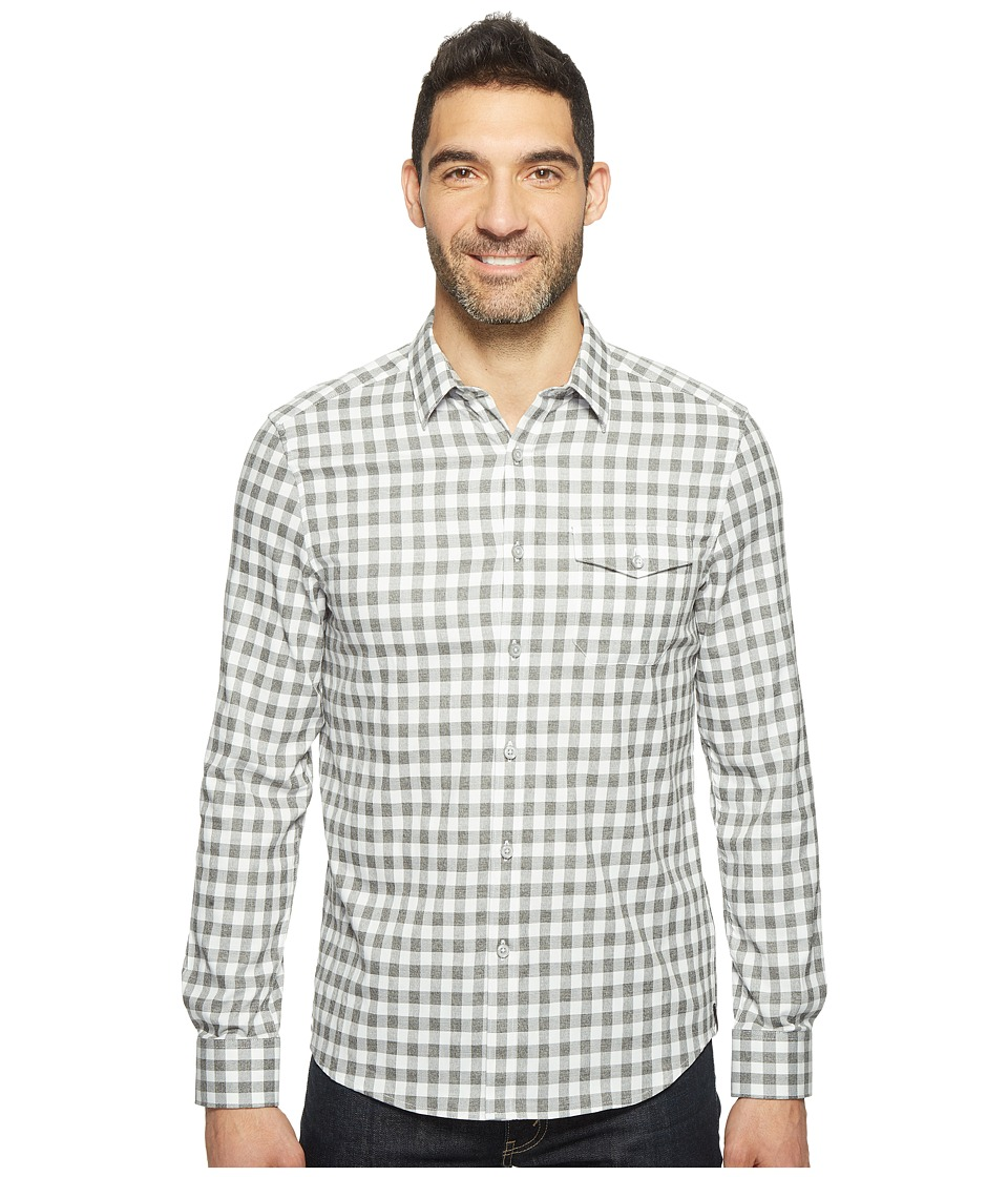 Kenneth Cole Sportswear - Long Sleeve One-Pocket Grindle Check Shirt