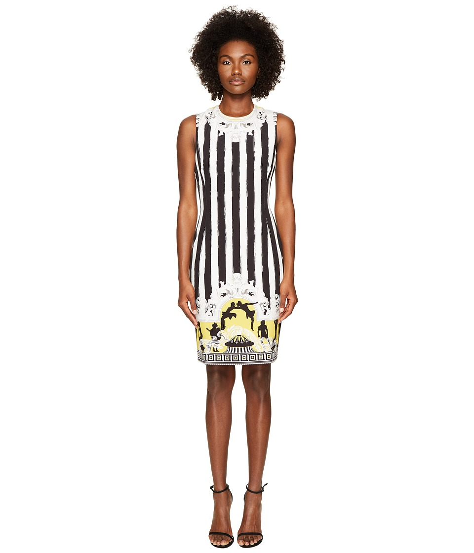 Versace Collection - Sleeveless Striped Dress (Black/White) Womens Dress