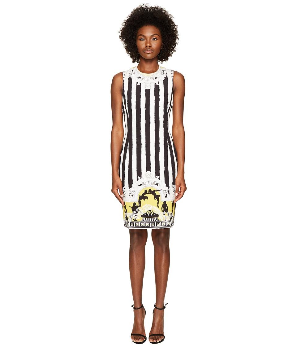 Versace Collection Sleeveless Striped Dress (Black/White) Women