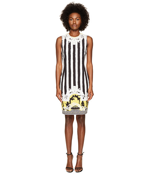 Versace Collection Sleeveless Striped Dress