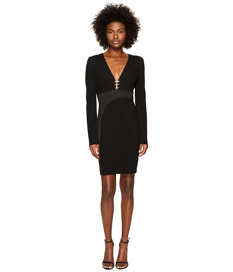 Versace Collection Long Sleeve V-Neck Dress