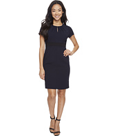 Adrianna Papell - Petite Center Front Keyhole Power Stretch Sheath
