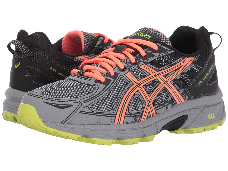 ASICS - GEL-Venture(r) 6 (Phantom/Coral/Lime) Womens Running Shoes