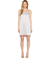 Halston Heritage - Sleeveless Double Strap Satin Slip Dress