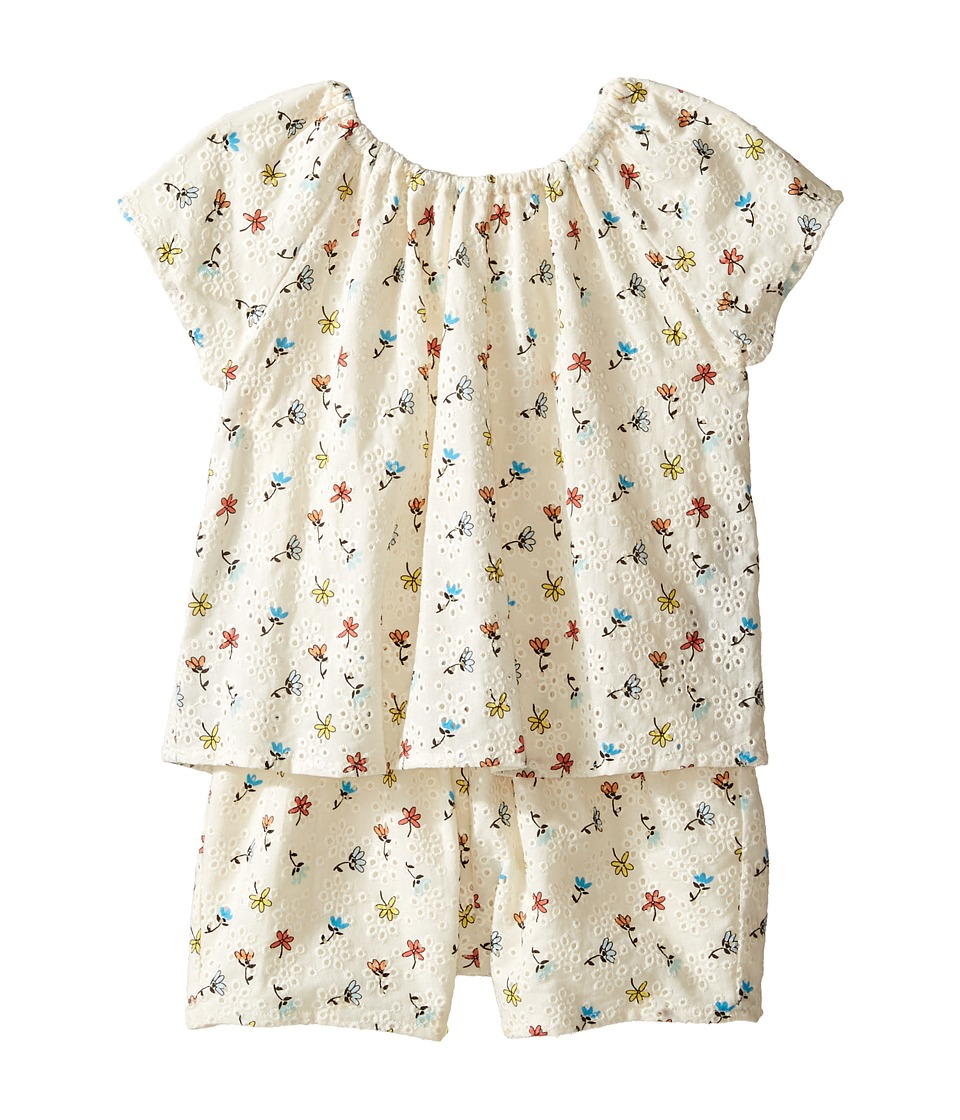 Chloe Kids - Flowers Embroidery Romper