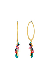 LAUREN Ralph Lauren - Pop Style Cluster Drop Hoop Earrings
