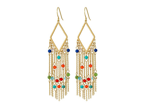 LAUREN Ralph Lauren Pop Style Fringe Chandelier Earrings - Gold/Multi