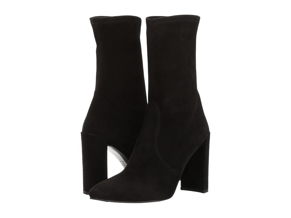 Stuart Weitzman Clinger (Black Suede) Women's Shoes