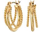 LAUREN Ralph Lauren Perfect Pieces Twisted and Smooth Triple Hoop Earrings