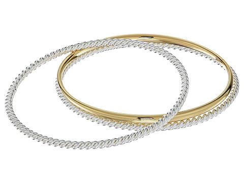 LAUREN Ralph Lauren Perfect Pieces 3 Piece Metal Bangle Bracelet Set - Silver/Gold